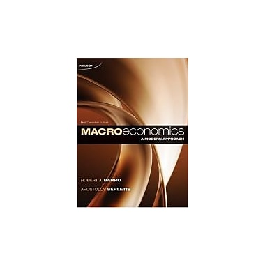 CDN ED Macroeconomics: A Modern Approach [Hardcover] by Barro, Robert J., Used Book (9780176500580)