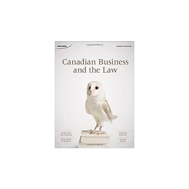 Canadian Business and the Law Fourth Edition, New Book (9780176501624)