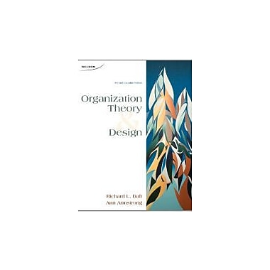 Organization Theory and Design, New Book (9780176503680)