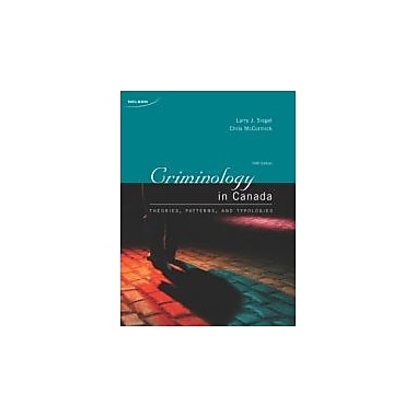 CRIMINOLOGY IN CANADA, New Book (9780176503918)
