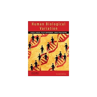 Human Biological Variation, 2nd Edition, New Book (9780195387407)