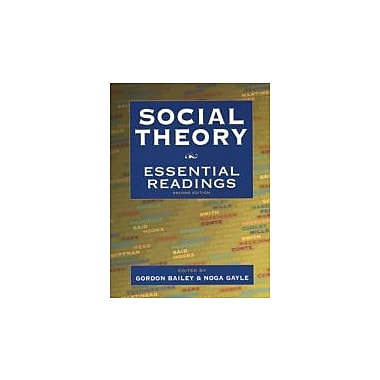 Social Theory: Essential Readings, New Book (9780195418149)