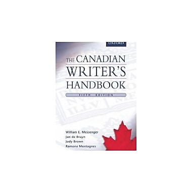 The Canadian Writer's Handbook, New Book (9780195427554)