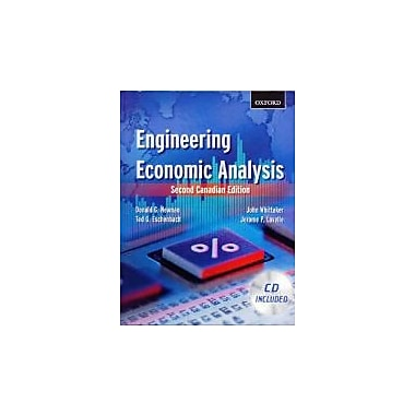 Engineering Economic Analysis: Second Canadian Edition, New Book (9780195430172)