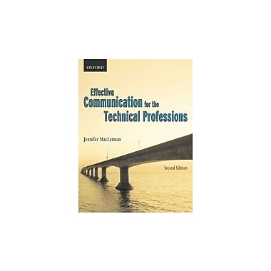 Effective Communications for the Technical Professions, New Book, (019544468X)