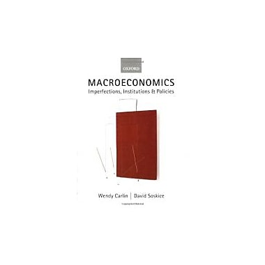 Macroeconomics: Imperfections, Institutions and Policies, New Book (9780198776222)
