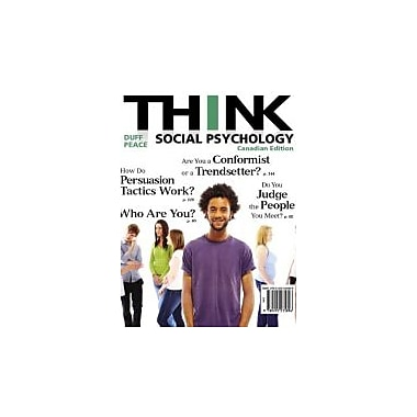 THINK Social Psychology, First Canadian Edition, New Book (9780205235896)