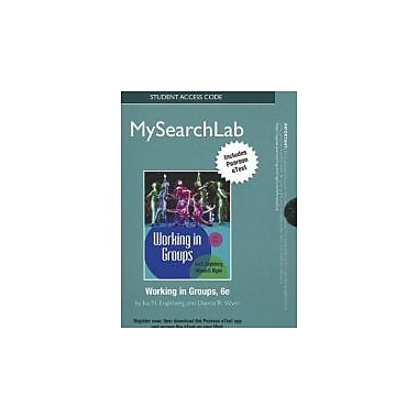 MySearchLab w/eText Standalone Access Card for Working in Groups (MySearchLab (Access Codes)), Used (9780205250196)