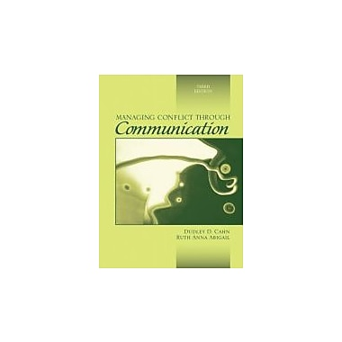 Managing Conflict through Communication (3rd Edition), New Book (9780205458806)