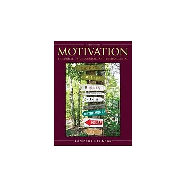 Motivation: Biological, Psychological, and Environmental (3rd Edition), New Book (9780205610815)