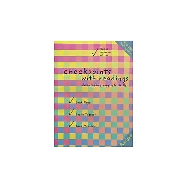 Checkpoints with Readings: Developing College English Skills, Second Canadian Edition (2nd Edition)