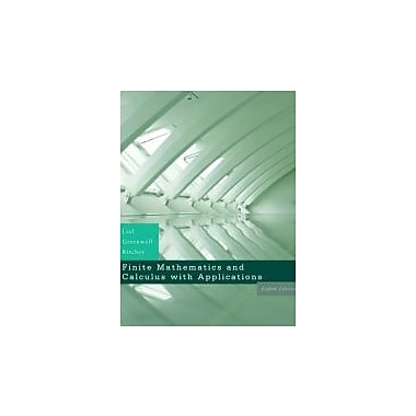 Finite Mathematics & Calculus with Applications Value Pack, 8th Edition, New (9780321569547)