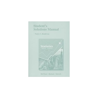 Student's Solutions Manual for Statistics for Business and Economics, New Book (9780321826299)