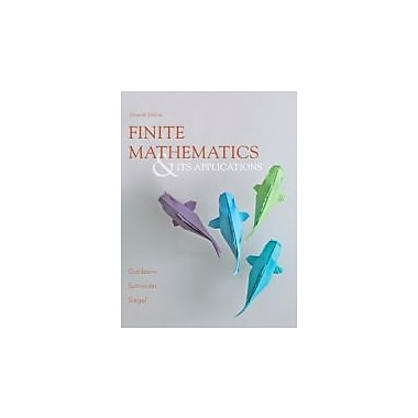 Finite Mathematics & Its Applications (11th Edition), New Book (9780321878052)