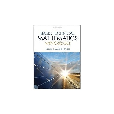 Basic Technical Mathematics, New (9780321924049)