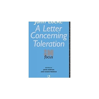 John Locke's Letter on Toleration in Focus (Philosophers in Focus), New Book (9780415060820)