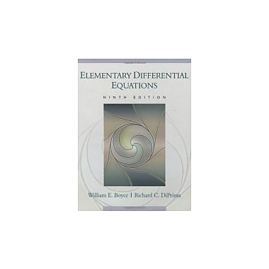 Elementary Differential Equations, New Book (9780470039403)