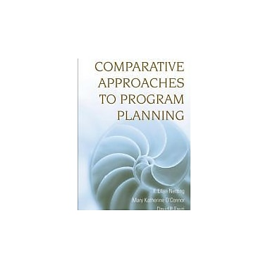 Comparative Approaches to Program Planning, New Book (9780470126417)