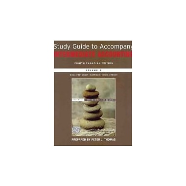 Intermediate Accounting, Study Guide, Used Book (9780470153147)