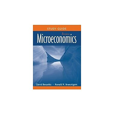 Microeconomics, Study Guide, New Book (9780470233337)