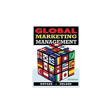Global Marketing Management, New Book (9780470381113)