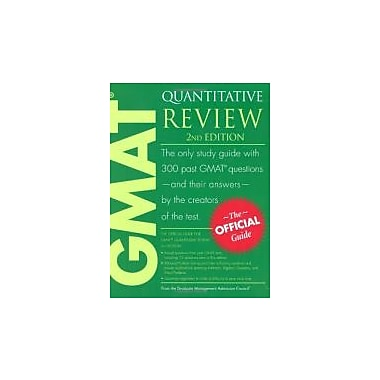 The Official Guide for GMAT Quantitative Review, 2nd Edition, Used Book (9780470449769)