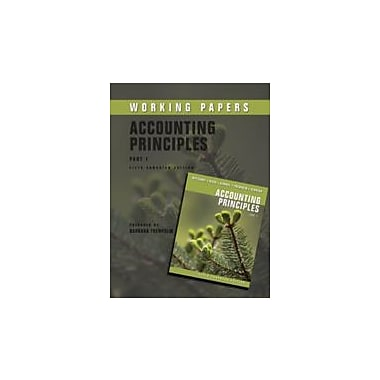 Accounting Principles Working Papers, New Book (9780470677575)