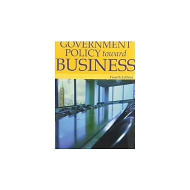 Government Policy Toward Business, Used Book, (470836253)