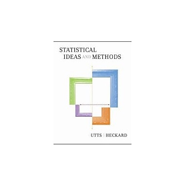 Statistical Ideas and Methods (with CD-ROM and Internet Companion for Statistics), Used Book (9780495122500)