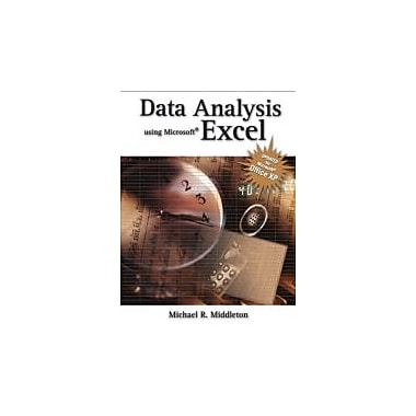 Data Analysis Using Microsoft Excel: Updated for Office XP, New Book (9780534402938)