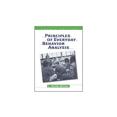 Principles of Everyday Behavior Analysis (with Printed Access Card), New Book (9780534599942)