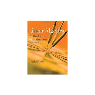 Linear Algebra: A Modern Introduction, New Book (9780538735452)