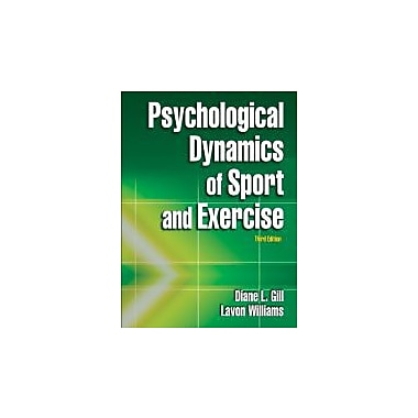 Psychological Dynamics of Sport and Exercise, Third Edition, New Book (9780736062640)