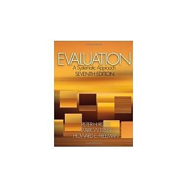 Evaluation: A Systematic Approach, New Book (9780761908944)