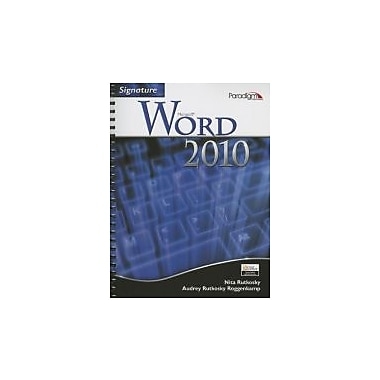 Signature Microsoft Word 2010 W/ CD, New Book (9780763842956)