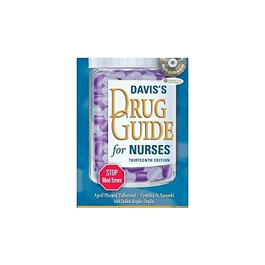 Davis's Drug Guide for Nurses + Resource Kit CD-ROM (Davis's Drug Guide for Nurses (W/CD)), Used Book (9780803628335)