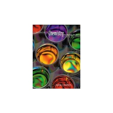 An Introduction to Chemistry for Biology Students, New Book (9780805395716)