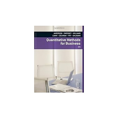 Quantitative Methods for Business (with Printed Access Card), New Book (9780840062338)