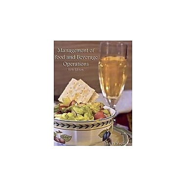Management of Food And Beverage Operations, New Book (9780866123440)