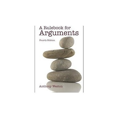 A Rulebook for Arguments, Used Book (9780872209541)