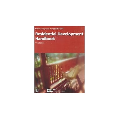 Residential Development Handbook (Development Handbook series), Used Book (9780874209181)