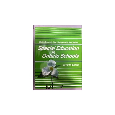 Special Education in Ontario Schools [Paperback], Used Book (9780986587313)