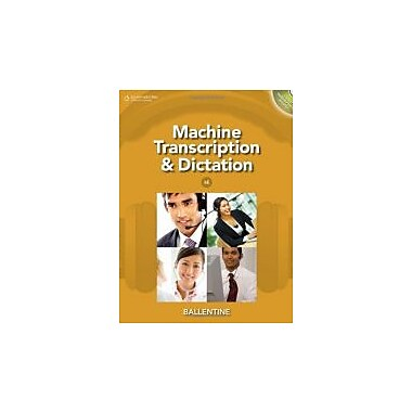 Machine Transcription & Dictation (with CD-ROM), New Book (9781111425449)