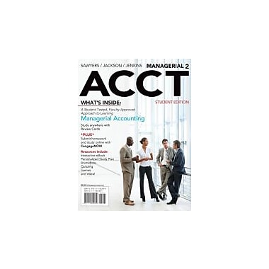 Managerial ACCT2 (with CengageNOW with eBook Printed Access Card), Used Book (9781111822699)