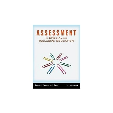 Assessment: In Special and Inclusive Education, New Book (9781111833411)
