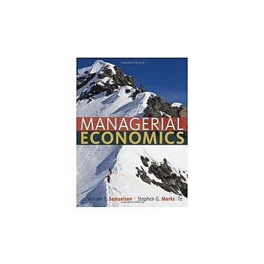 Managerial Economics, New Book (9781118041581)