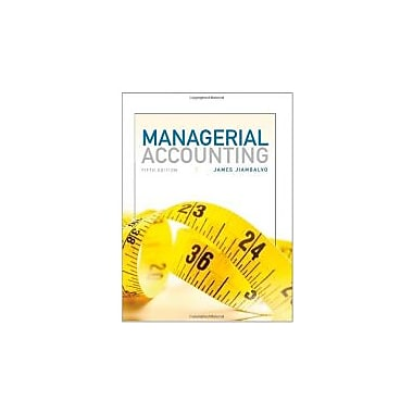 Managerial Accounting, New Book, (1118078764)