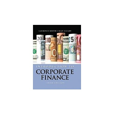 Introduction to Corporate Finance, New Book, (1118300769)