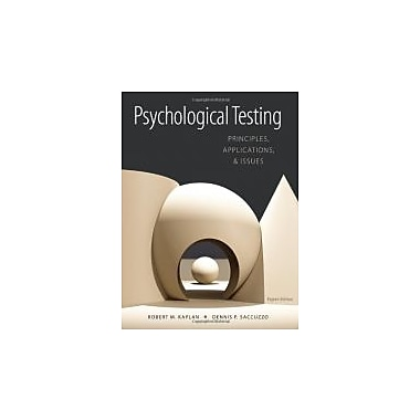 Psychological Testing: Principles, Applications, and Issues, New Book (9781133492016)