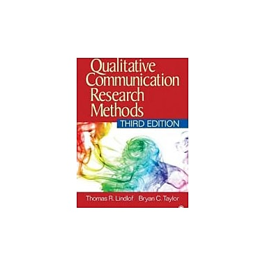 Qualitative Communication Research Methods, New Book (9781412974738)
